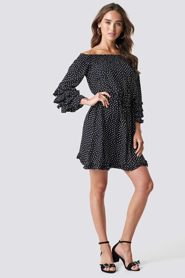 Dotted Mini Dress Outfit