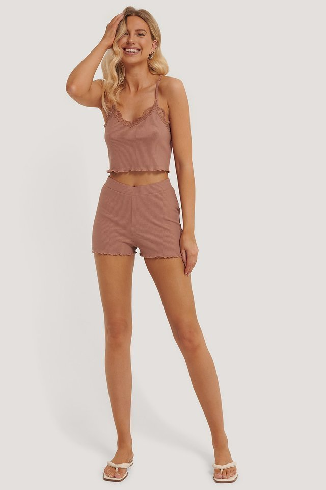 Babylock Lounge Shorts Outfit.