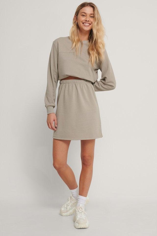Organic Mini Sweat Skirt Outfit.