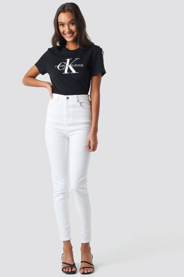 Core Monogram Logo Tee Outfit.