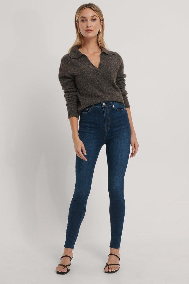 Organic Super High Waist Skinny Jeans.