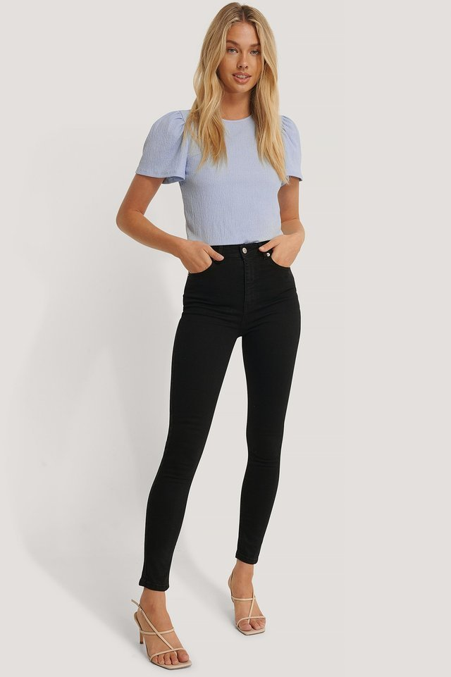 Skinny High Waist Jeans Black.