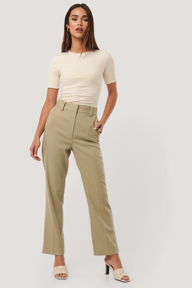 Babylock Ribbed Top Outfit.