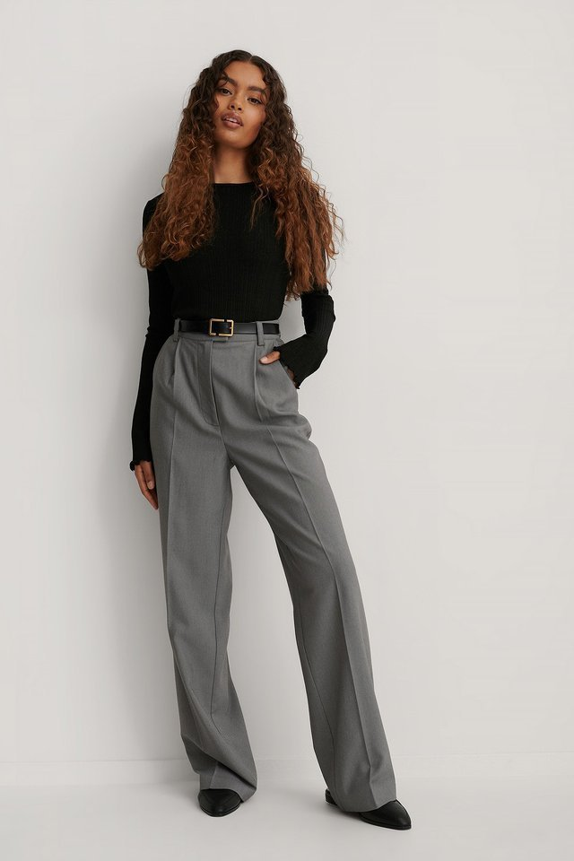 Babylock Round Neck Long Sleeve Top Outfit.
