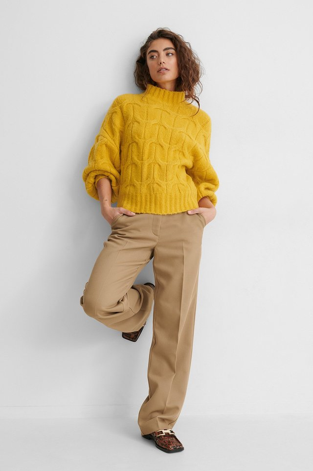 Cable Knit Sweater Outfit.