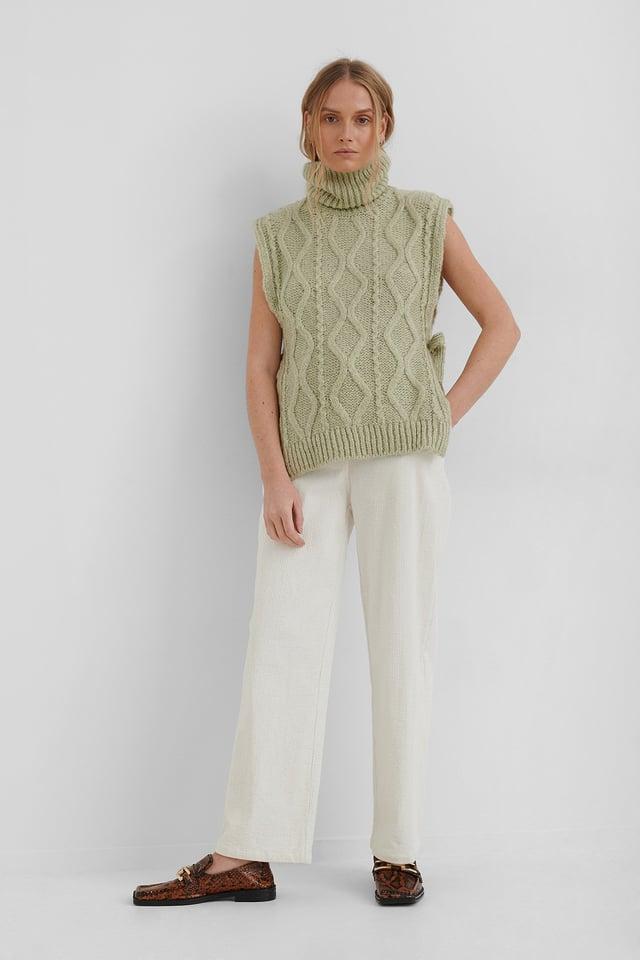 Manati Sweater Waistcoat Outfit.