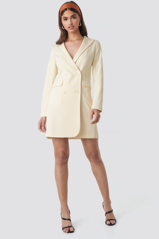 Collared Blazer Dress Outfit.