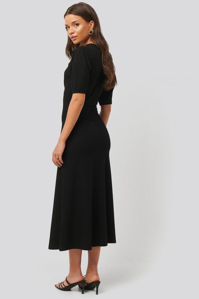 Soft Rib Midi Dress Outfit.