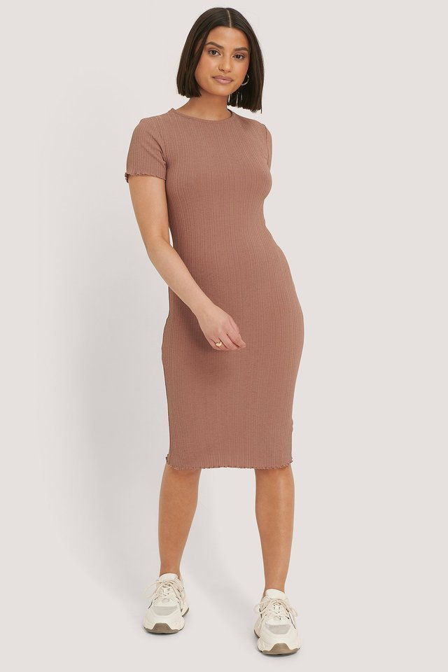 Babylock Ribbed Dress Outfit.