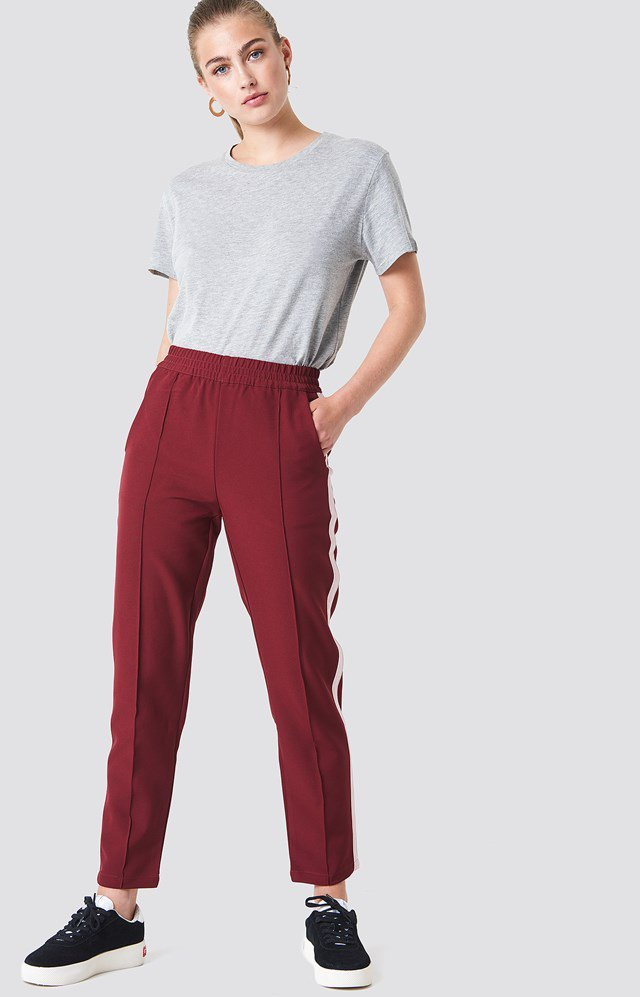 Side Stripe Joggers with Classic Tee