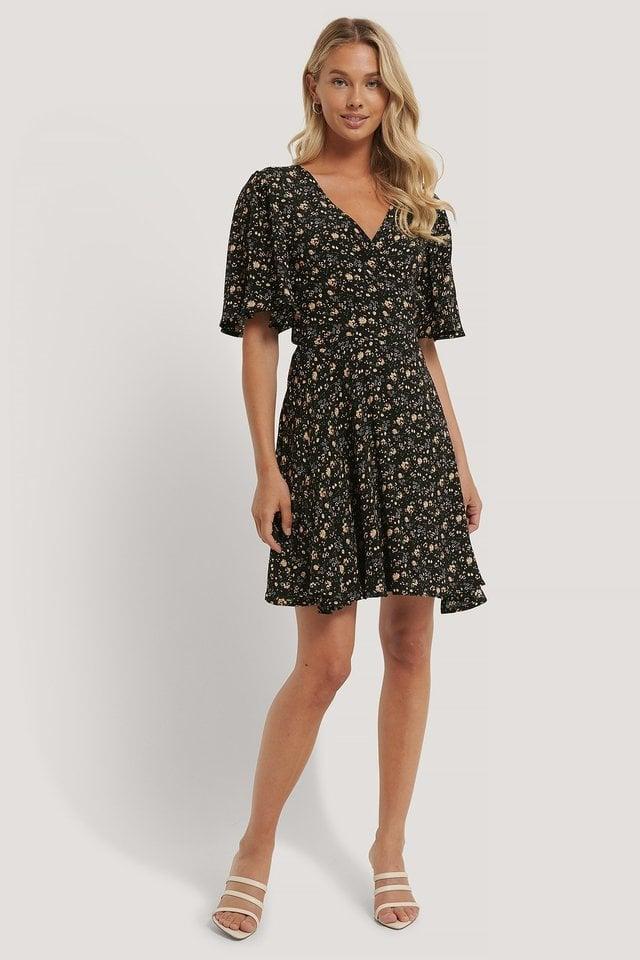 Flowy V-Neck Dress Outfit.