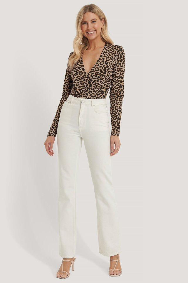 Overlap Leo Print Body Outfit.
