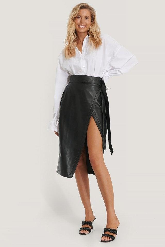 Petra Pu Skirt Outfit.