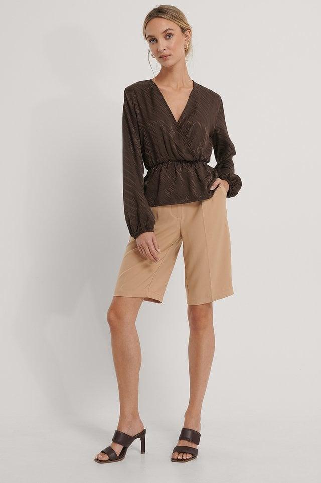 Asymmetric Carmen Top Outfit.