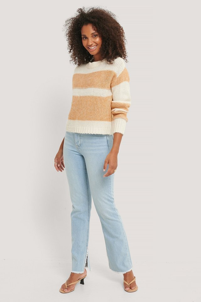 Nora Striped Knit Outfit.