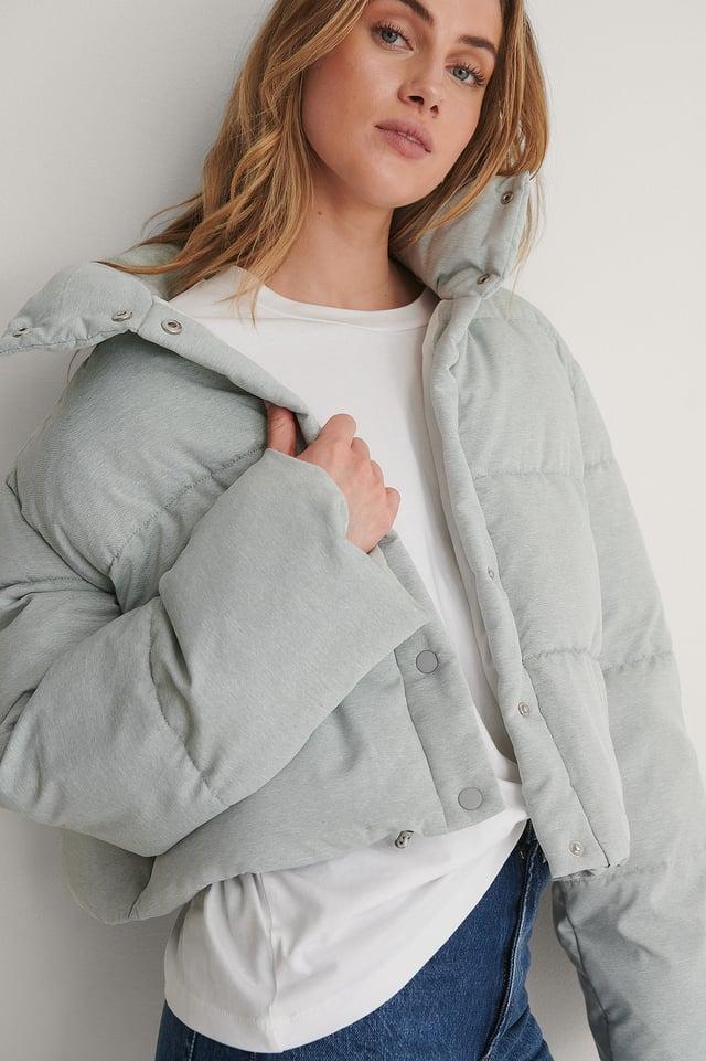 Melange Padded Jacket Outfit.