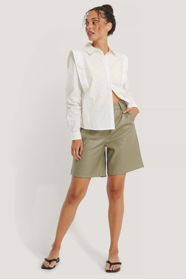 Bolded Shoulder Shirt Outfit.