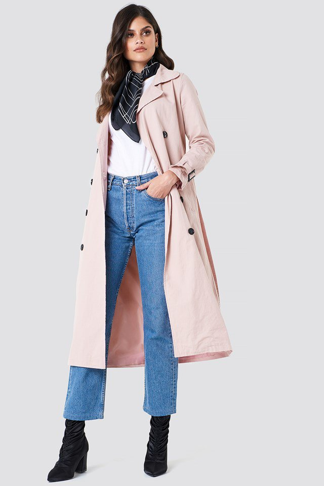 Buttoned Midi Trench
