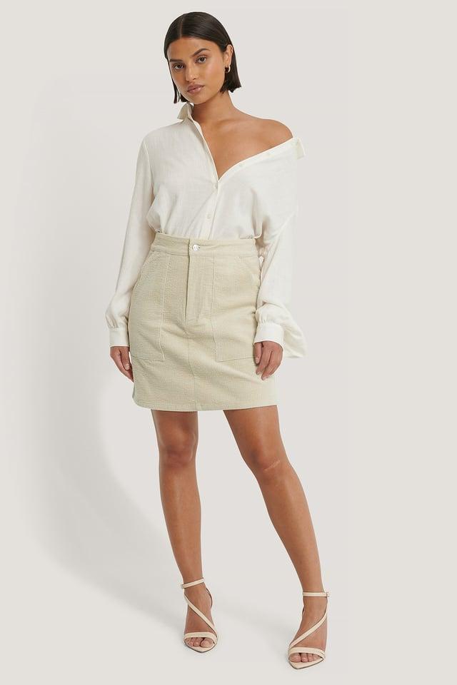 Corduroy Mini Skirt Outfit.