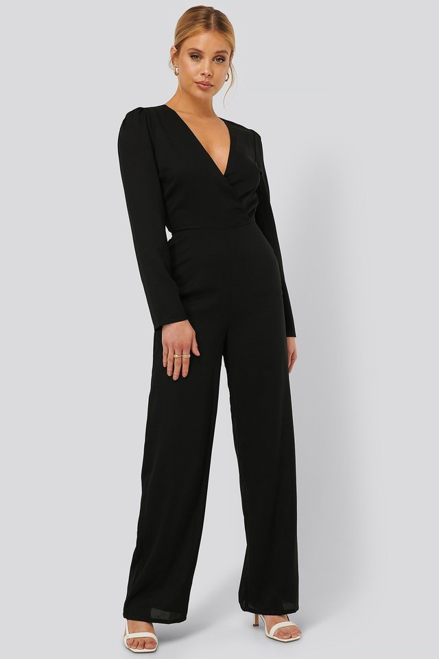Twisted Neckline Jumpsuit Outfit.