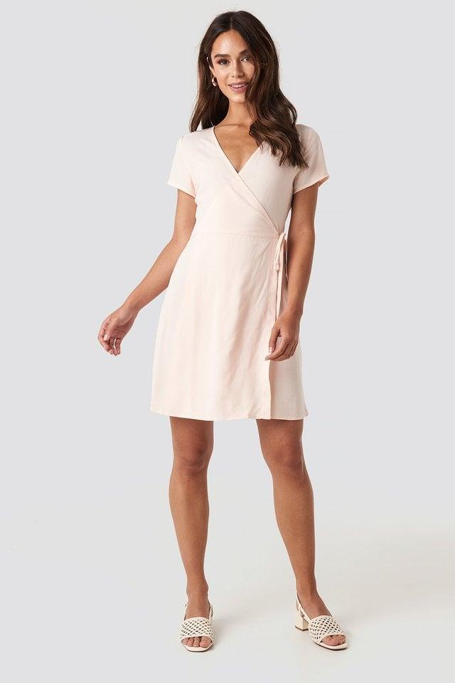 Wrap Mini Dress Outfit.