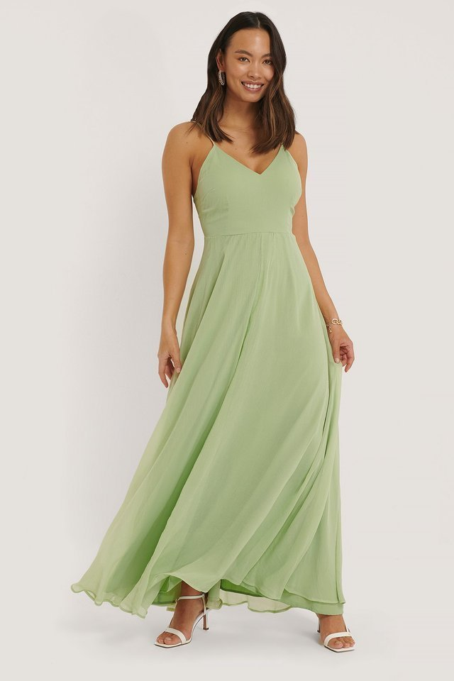 Tie Back Detail Maxi Dress Outfit.