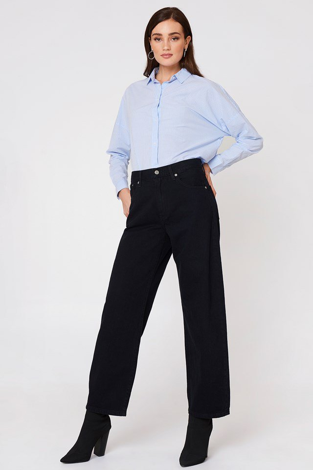Collared Shirt with Wide Leg Pants