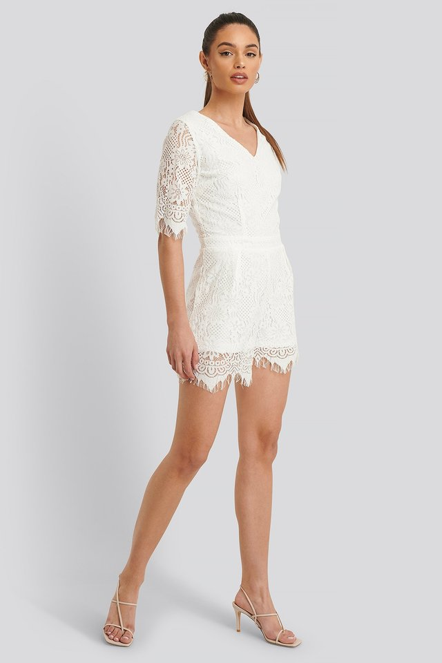 WD Lace Playsuit Outfit.
