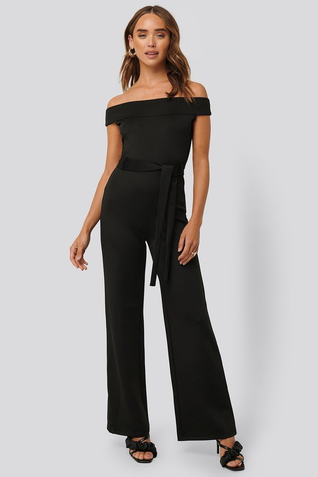 Boat Neck Jersey Jumpsuit Outfit.