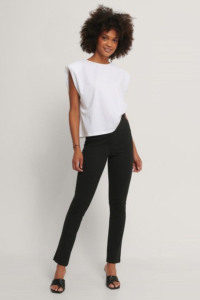Jersey Suit Pants Outfit.
