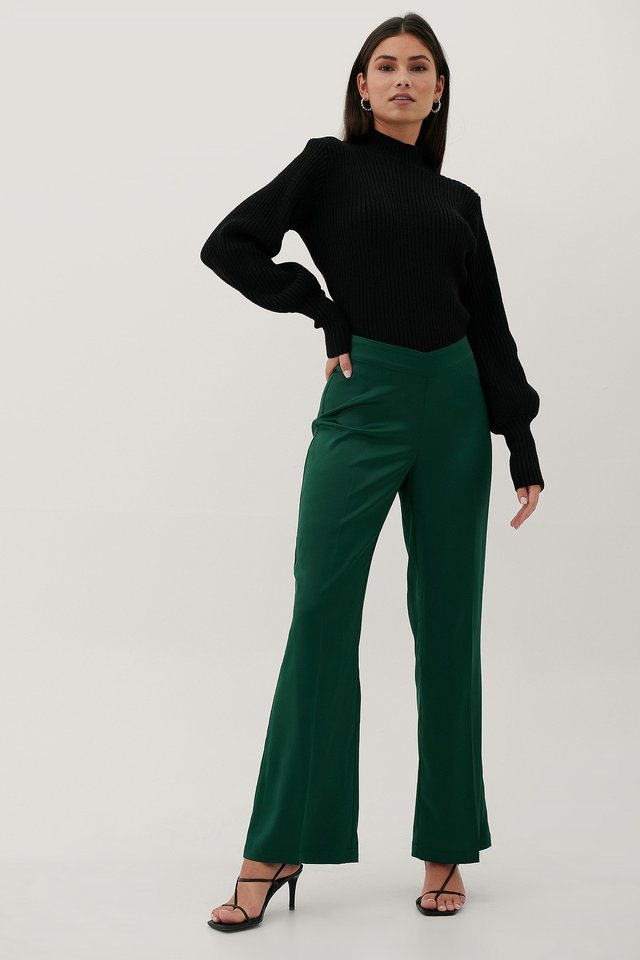 Recycled V-Shaped Waist Suit Pants Outfit