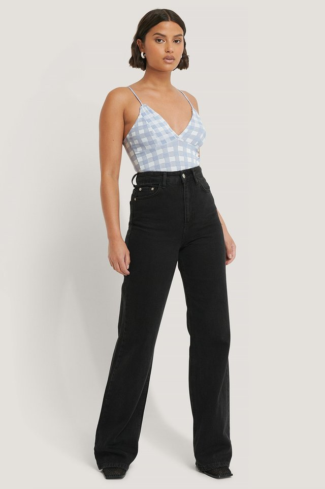 Gingham Crop Top Outfit.
