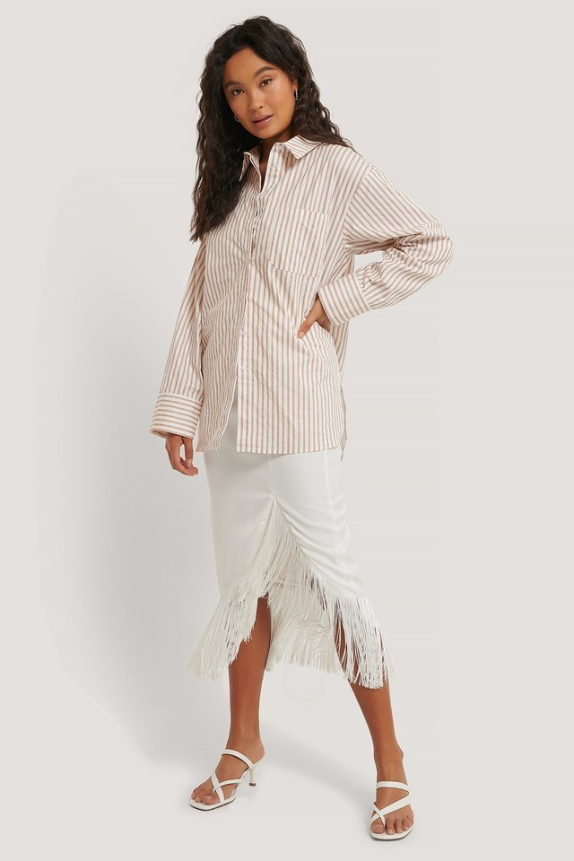 Oversized Cotton Pocket Shirt Outfit.