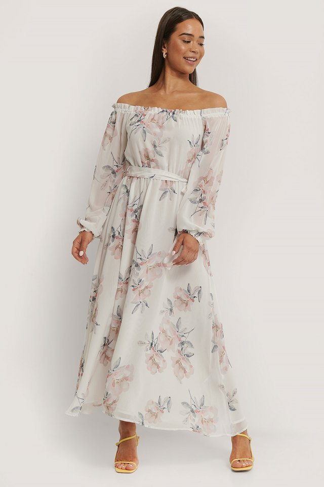 Off Shoulder Long Dress Outfit
