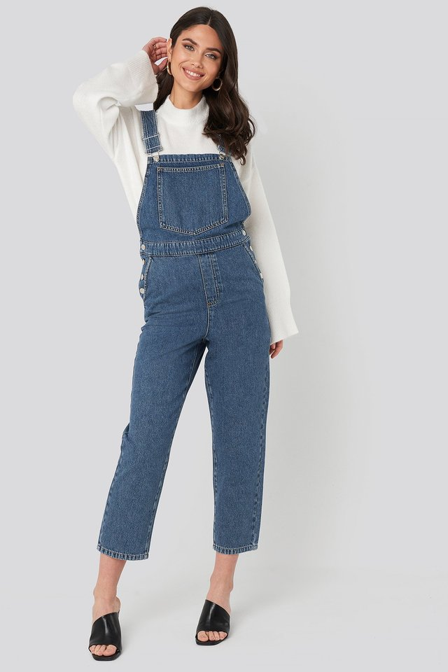 Denim Dungarees Outfit.