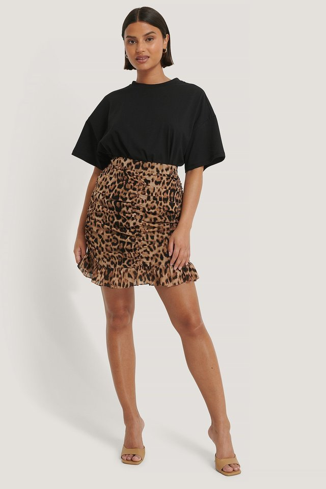 Mini Ruffle Skirt Outfit.