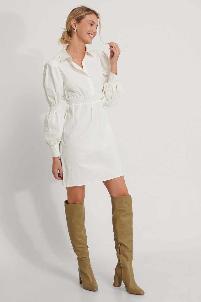 Waist Detail Shirt Dress Outfit.