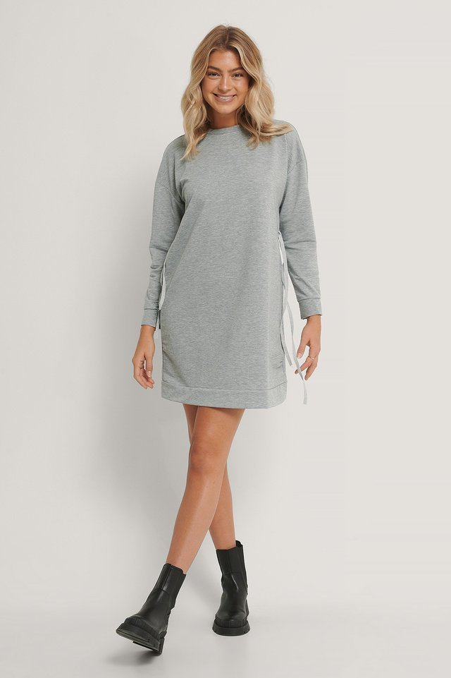 Drawstring Sweater Dress Outfit.
