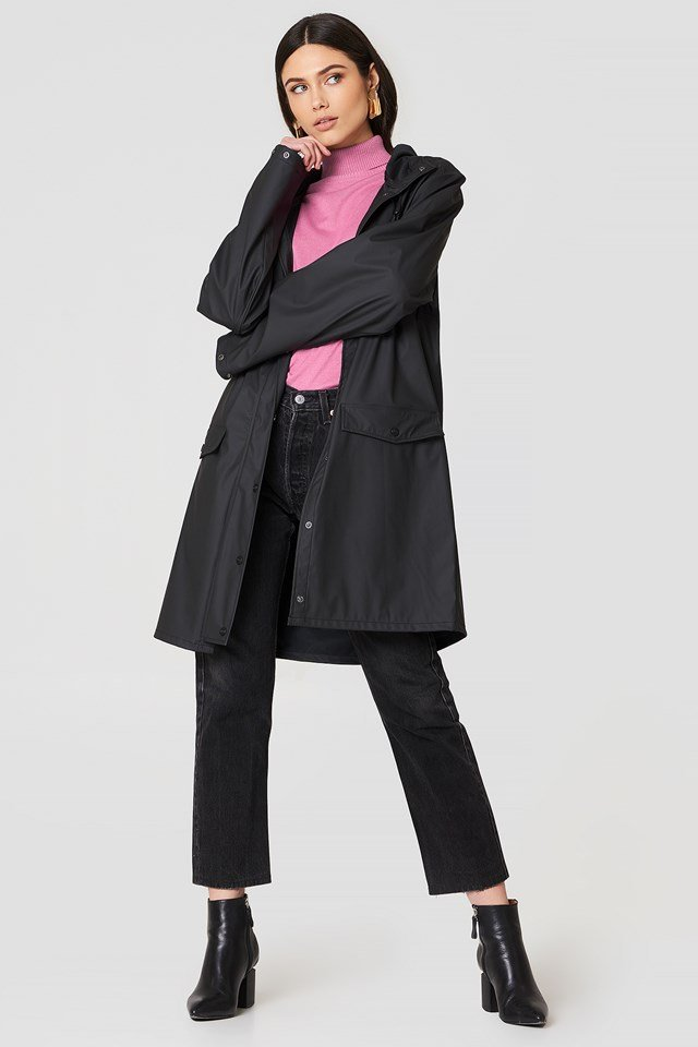 Raincoat with Text Details Outfit