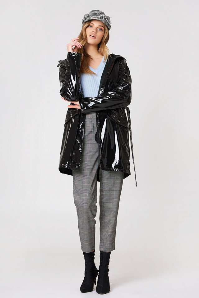 Patent Leather-Like Coat