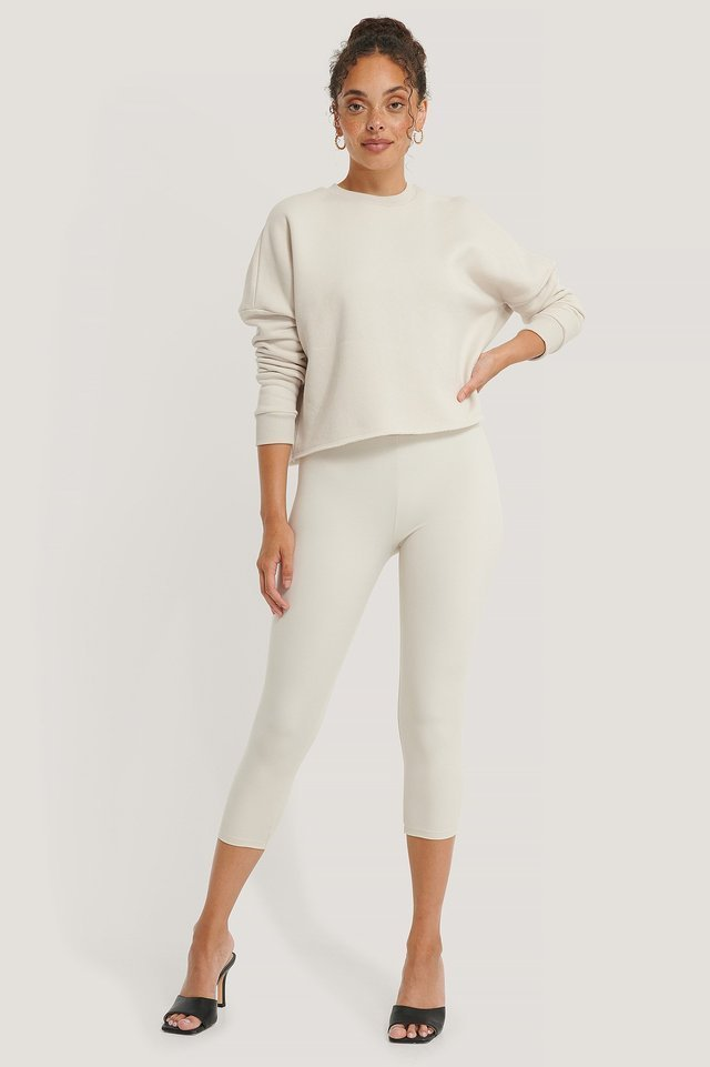 Organic Basic Cropped Sweater Outfit.