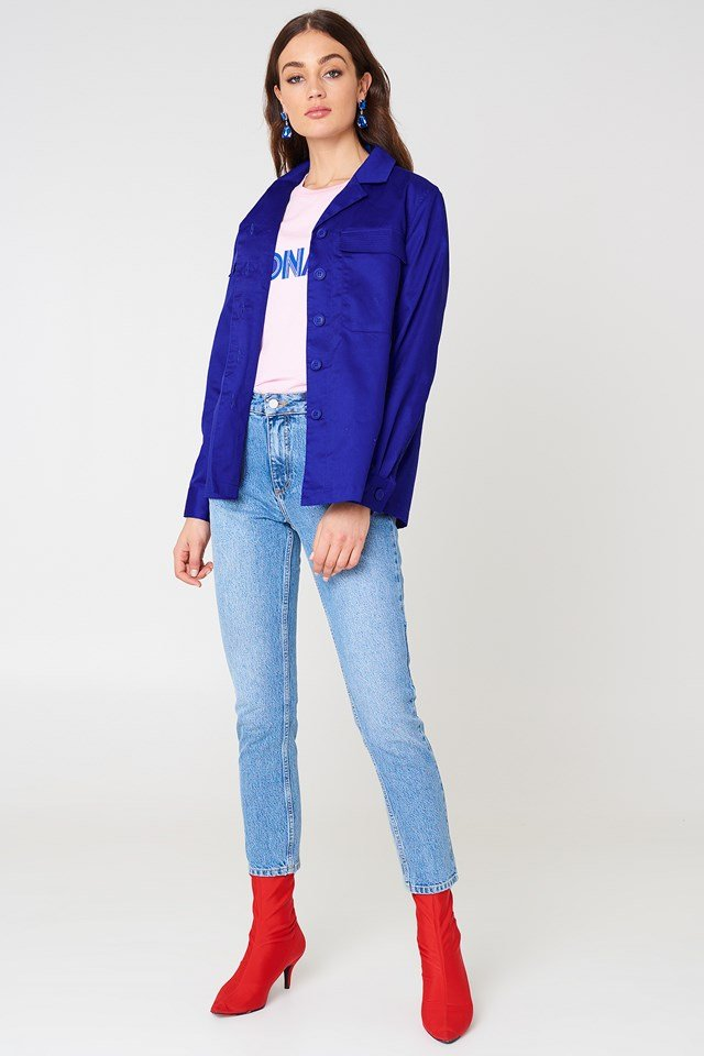 Front Pocket Short Jacket