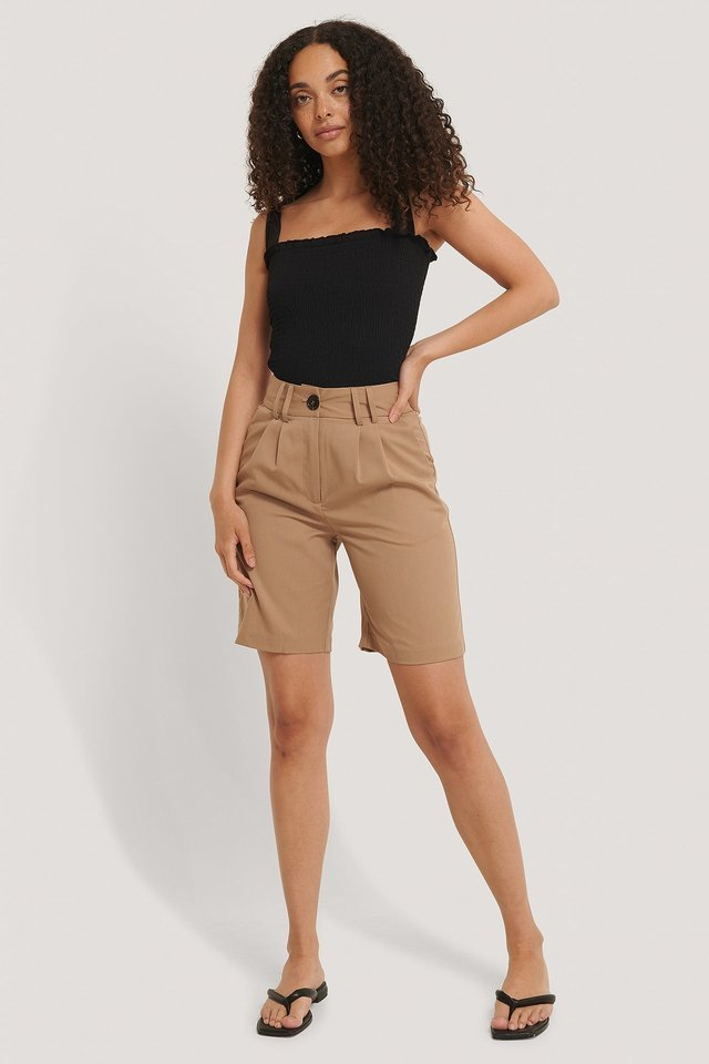 Smock Knot Top Outfit.