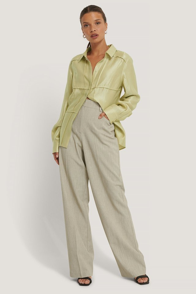 Wide Leg Suit Pants Outfit.