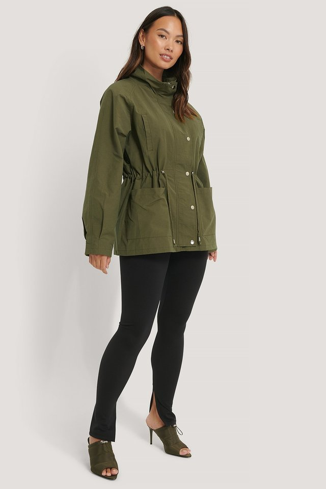 Drawstring Jacket Green.
