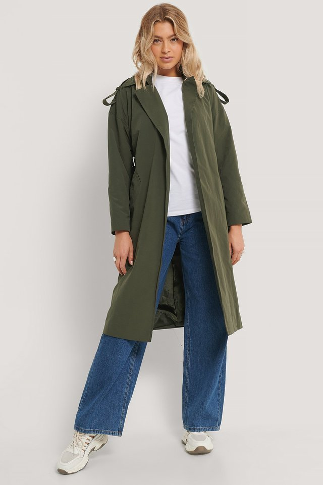 Oversized Trench Coat Green.