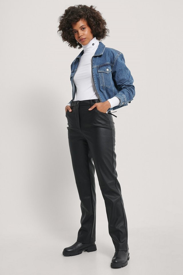 Cropped Foundation Denim Jacket Blue.