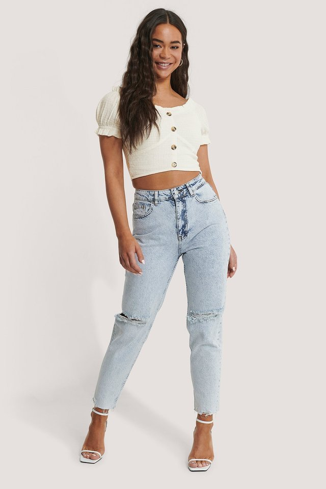 Structured Cropped Blouse Outfit.