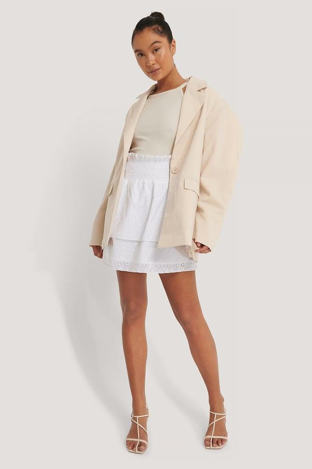 Smocked Anglaies Skirt Outfit.