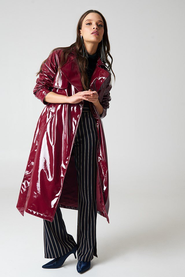 Patent Long Jacket Outfit